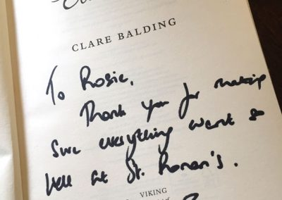 Clare Balding signed copy
