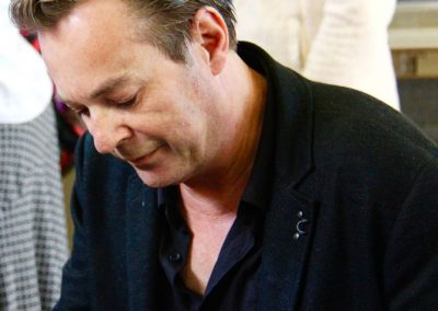 Julian Clary signing books at Cranbrook Literature Festival